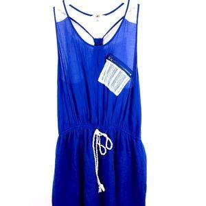 Ya Los Angeles Royal Blue Tank Mini Dress Size L